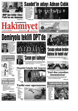 27 ocak.qxd - Çorum Hakimiyet Gazetesi