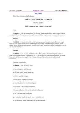 judo federasyonu ana statü (r-g : 01.10.2014)