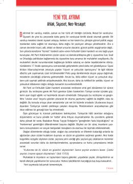 YENİ YOL AYRIMI - Umran Dergisi
