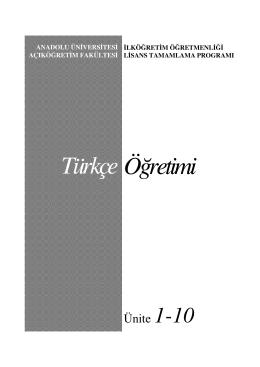 Türkçe Öğretimi - Açıköğretim e-Öğrenme Portalı