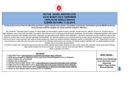 botaş genel müdürlüğü 24-25 şubat 2015 tarihinde yapılacak sözlü