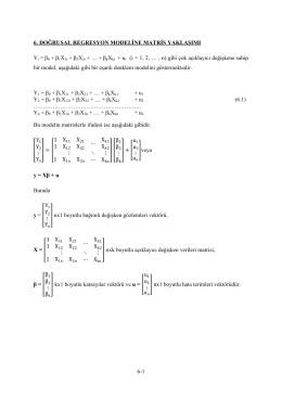 doğrusal regresyon modeline matris yaklaşımı