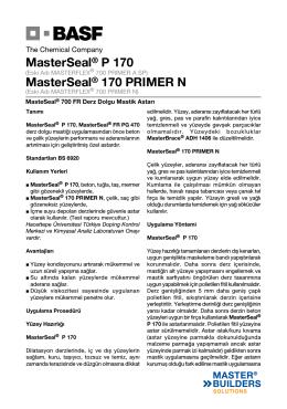 MasterSeal® P 170 MasterSeal® 170 PRIMER N