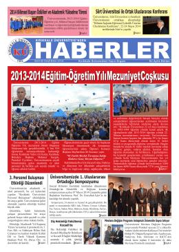 2013-2014 Eğitim-Öğretim Yılı Mezuniyet Coşkusu
