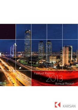 Faaliyet Raporu Annual Report