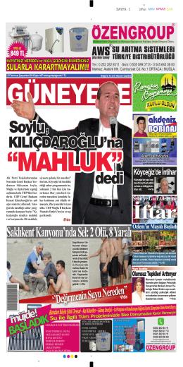 27 Temmuz 2014 - Güney Ege Gazetesi
