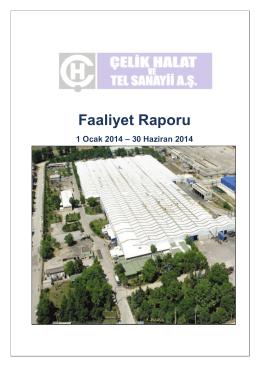 2014 Yılı 2.Ara Dönem Faaliyet Raporu