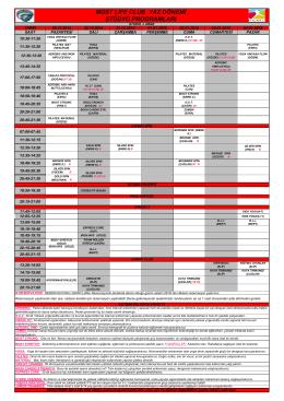 29.12.2014-04.12.2015 Seans Programı