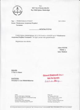 """""""cT\ - mut ilçe millî eğitim müdürlüğü"""
