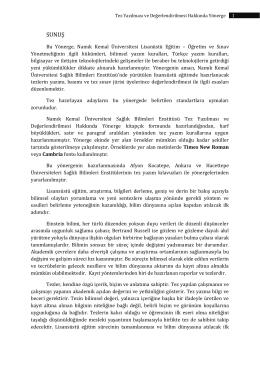 Tez Yazım Kuralları - E-Universite