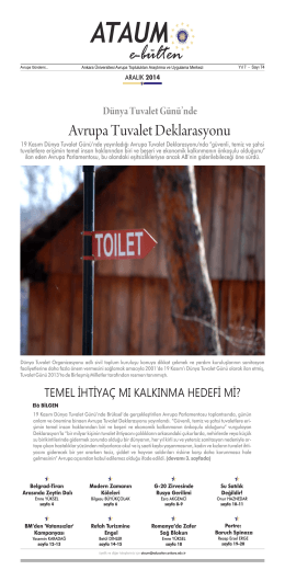 e-bülten - ATAUM - Ankara Üniversitesi