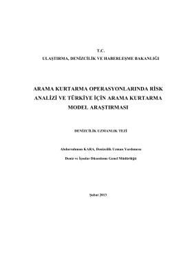 Abdurrahman KARA-Arama Kurtarma Operasyonlarında Risk