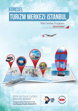 Küresel Turizm Merkezi İstanbul Mali Destek Programı (İşletmeler)