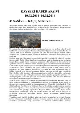2. Hafta - Kayham - Erciyes Üniversitesi