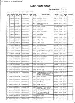 ilanen tebliğ listesi ebys-2014.07.15