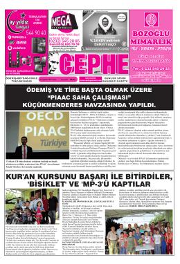 29.08.2014 Tarihli Cephe Gazetesi