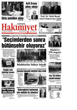(21 \376ubat.qxd) - Çorum Hakimiyet Gazetesi