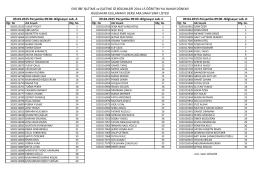 Ara Sınav Sınıf Listesi
