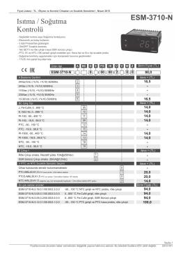 ESM-XX50 Serisi - makselkontrol.com