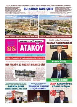Bak,rköy - Ataköy Gazetesi