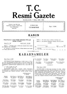 V. KARARNAMELER