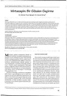 Mirtazapin: 3ir Gözden Geçirme - Klinik Psikofarmakoloji Bülteni