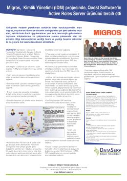 Migros, Kimlik Yönetimi (IDM) projesinde, Quest Software