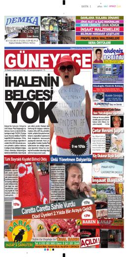 18 Haziran 2014 - Güney Ege Gazetesi