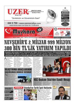 Sayfa 1 - Nevşehir Muşkara Haber