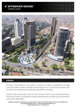 E-Broşür için tıklayınız... - Wyndham Grand İstanbul Levent