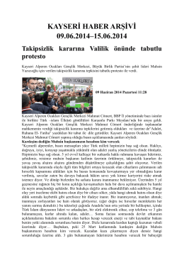 4-) kayseri haber arşivi 09.06.2014 - Kayham