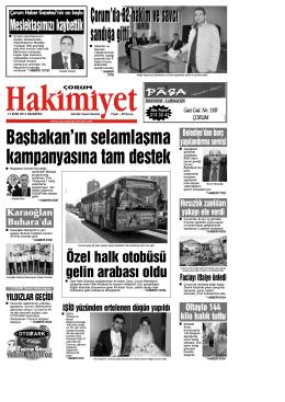 13 ekim.qxd - Çorum Hakimiyet Gazetesi