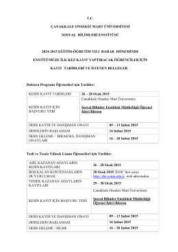 tc çanakkale onsekiz mart üniversitesi sosyal bilimleri enstitüsü