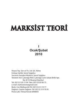 Marksist teori 1