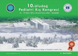 PEDİATRİ 2.DUYURU - 8. Uludağ Pediatri Kış Kongresi