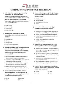 batı eğitim kurumu işyeri hekimliği deneme sınavı x - Batı Osgb