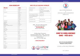 omü - yös 2015 - Ondokuz Mayıs Üniversitesi