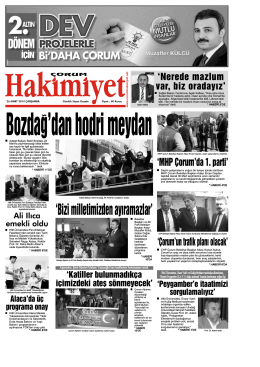 26 mart.qxd - Çorum Hakimiyet Gazetesi