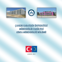 ÇANKIRI, 2014 - Mühendislik Fakültesi