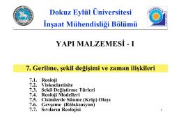 7. Reoloji - Dokuz Eylül Üniversitesi