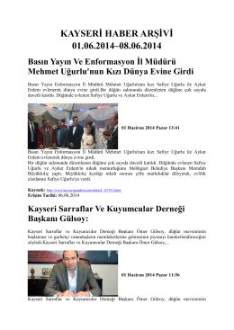 1. Hafta - Kayham - Erciyes Üniversitesi