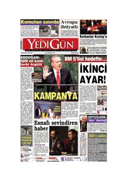 ‹K‹NC‹ AYAR! - Yedigün Gazetesi