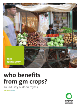 Who benefits from GM crops? - Friends of the Earth Europe
