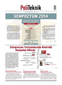 SEMPOZYUM 2014 - politeknik.de