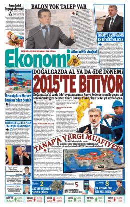 22 EKİM 2014 - Ekonomi Gazetesi
