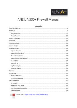 Kurulum - Anzilia Firewall Ağ Güvenlik Cihazı