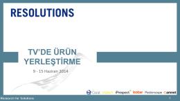 Ürün Yerleştirme 24.Hafta (9-15 Haziran 2014) - resolutions