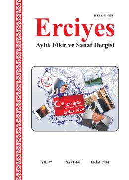 442 Ekim 2014 - Erciyes Dergisi
