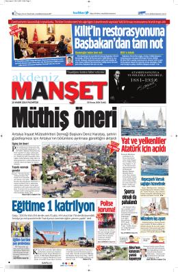 Yat ve yelkenliler Atatürk için açıldı