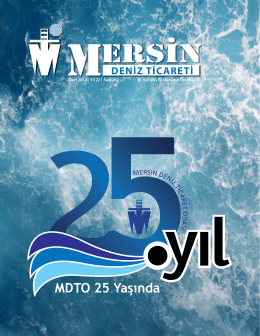 Deniz Ticareti Dergisi Mart 2014 Sayısı